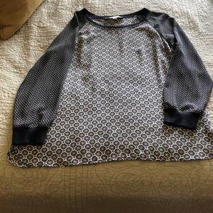 Long sleeve lightweight blouse